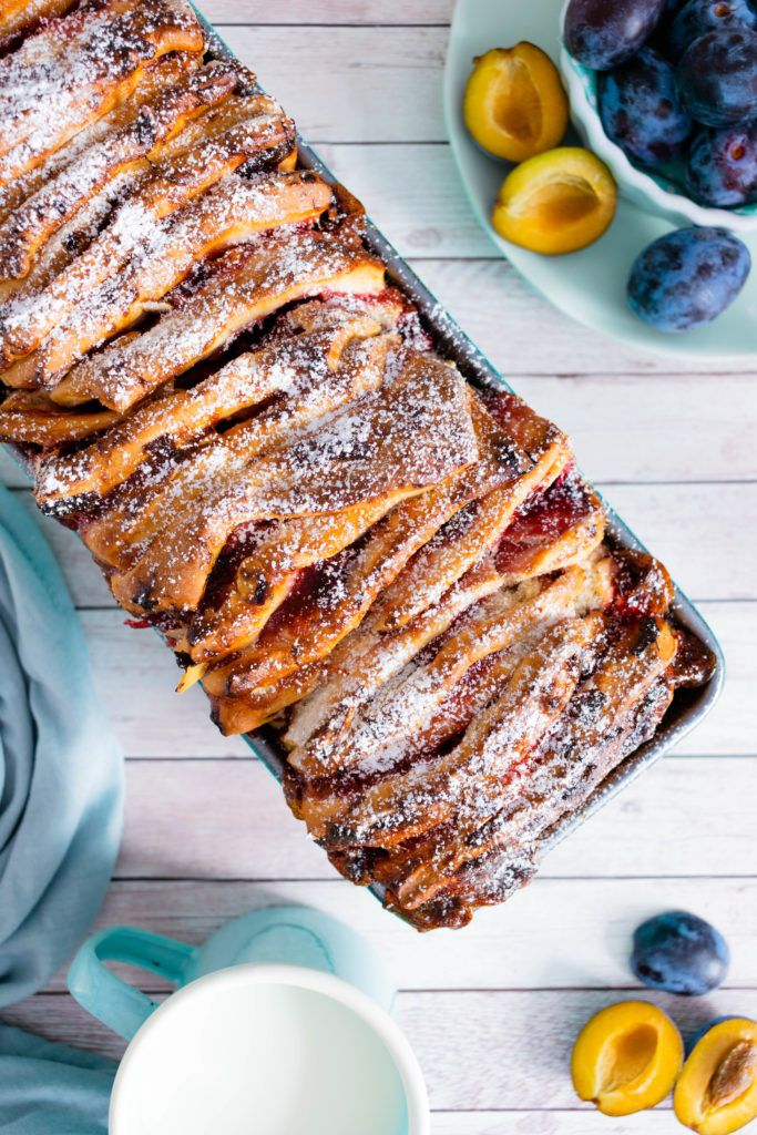 Photo of Plucked bread with plums recipe | My good luck