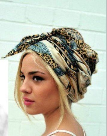 Want To Learn How To Pin Up My Hair With A Headscarf Like This