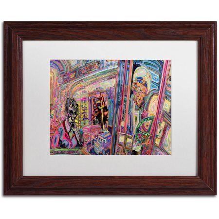 Trademark Fine Art The Gumball Express Canvas Art by Josh Byer, White Matte, Wood Frame, Multicolor