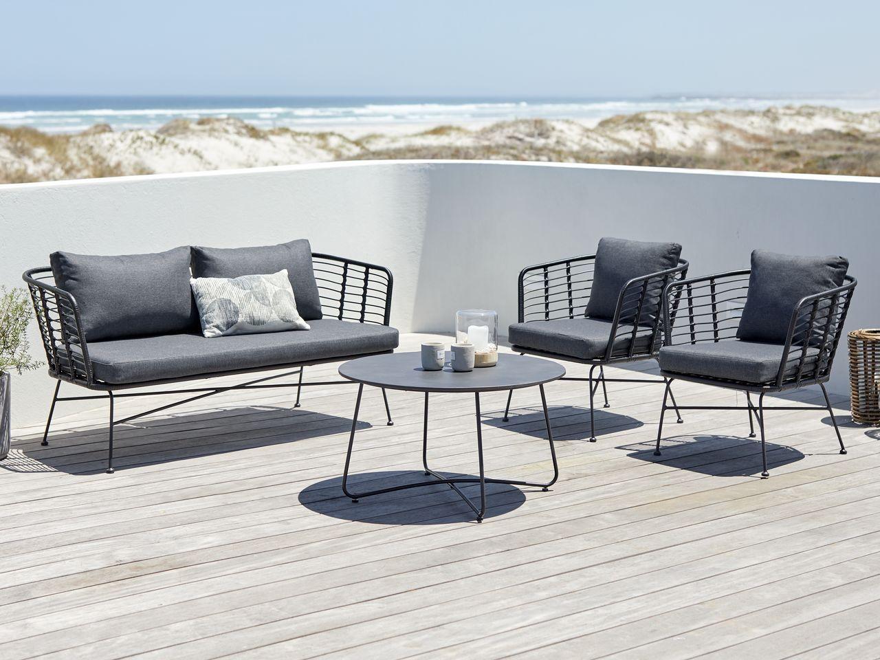 Sohvaryhma Antarktika 4 5 Istut Musta Jysk Outdoor Furniture Sets Lounge Furniture Luxury Cushions