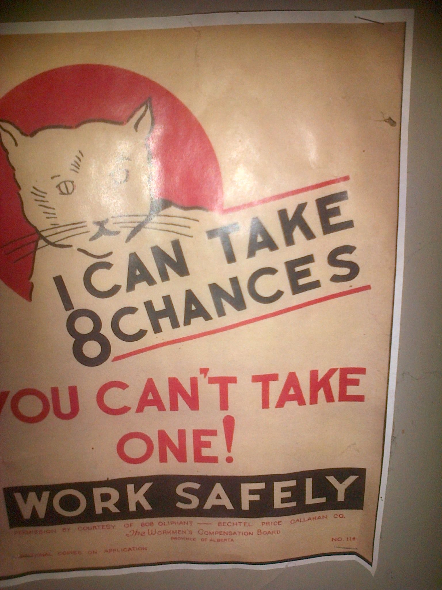 A miner work safety poster, found in our simulated tunnel