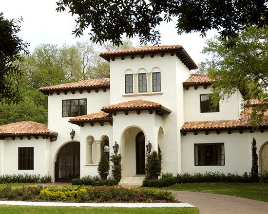 Mediterranean exterior design pictures remodel decor for Spanish colonial exterior paint colors