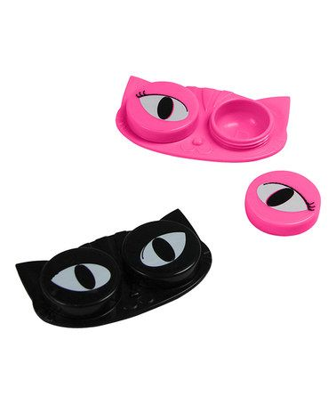 Another great find on #zulily! Cat Eyes Contact Lens Case #zulilyfinds