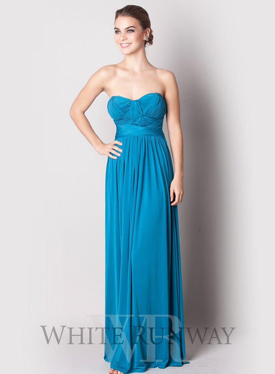Strapless jersey dress with a very comfortable stretch fit across ...