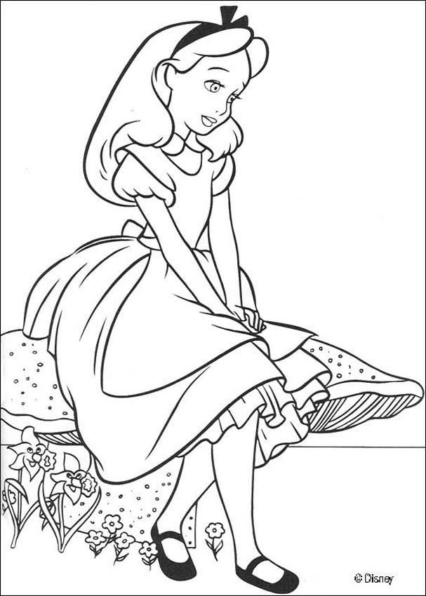 coloring page about alice in wonderland disney movie nice drawing of alice in a nice