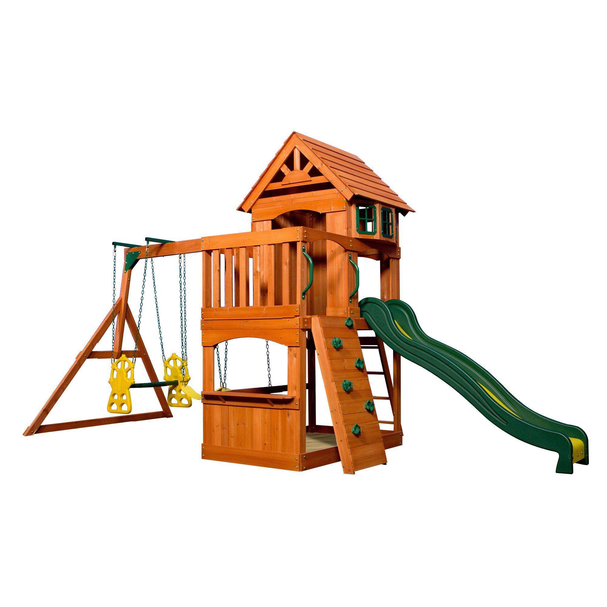 Atlantis Wooden Swing Set Wooden Swings Backyard Kids Swing
