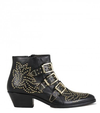 1cc7484fe730 Lemare  0351 Black Studded Boots