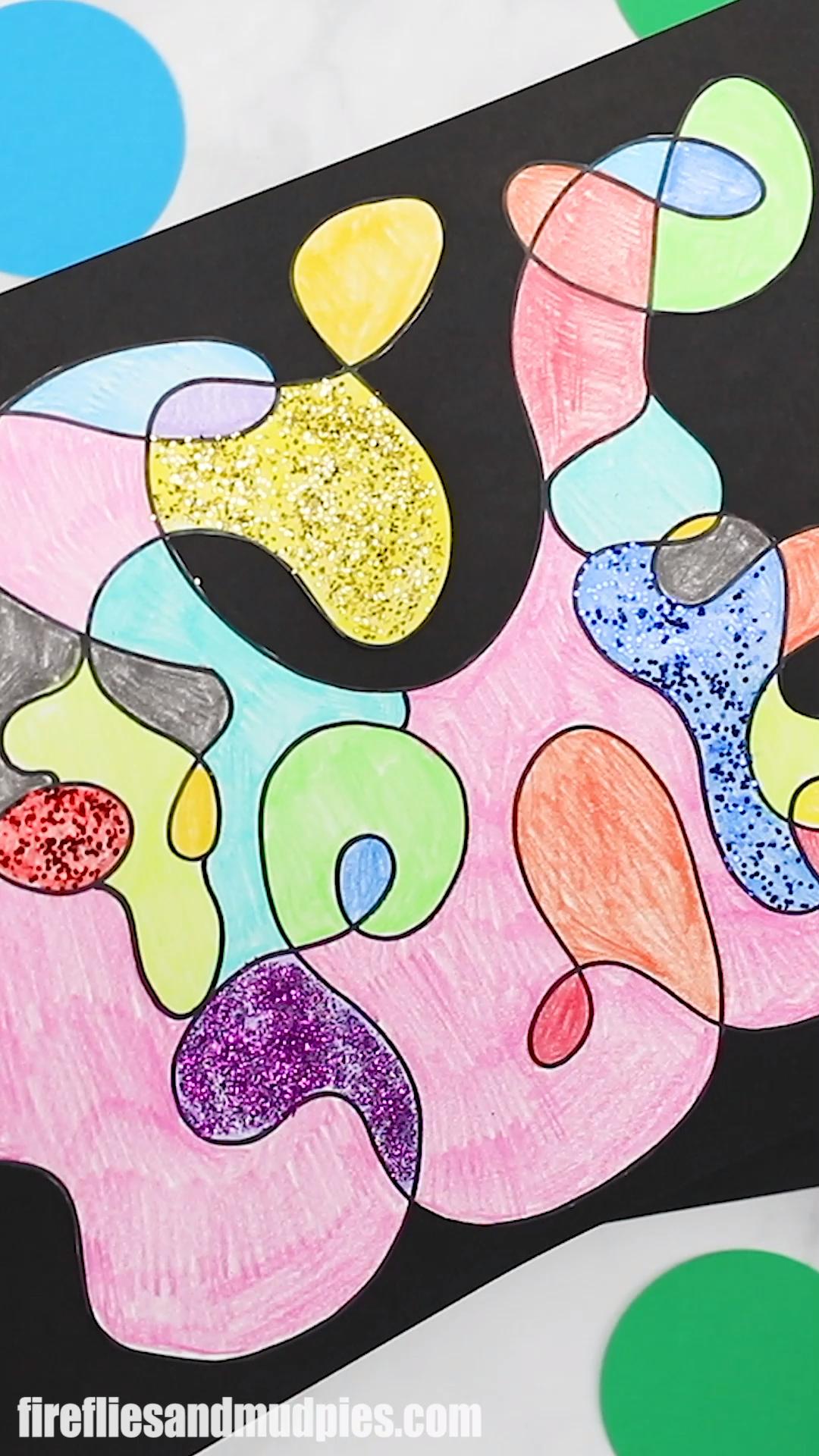Scribble Art For Kids Preschool Crafts Scribble Art Art Craft