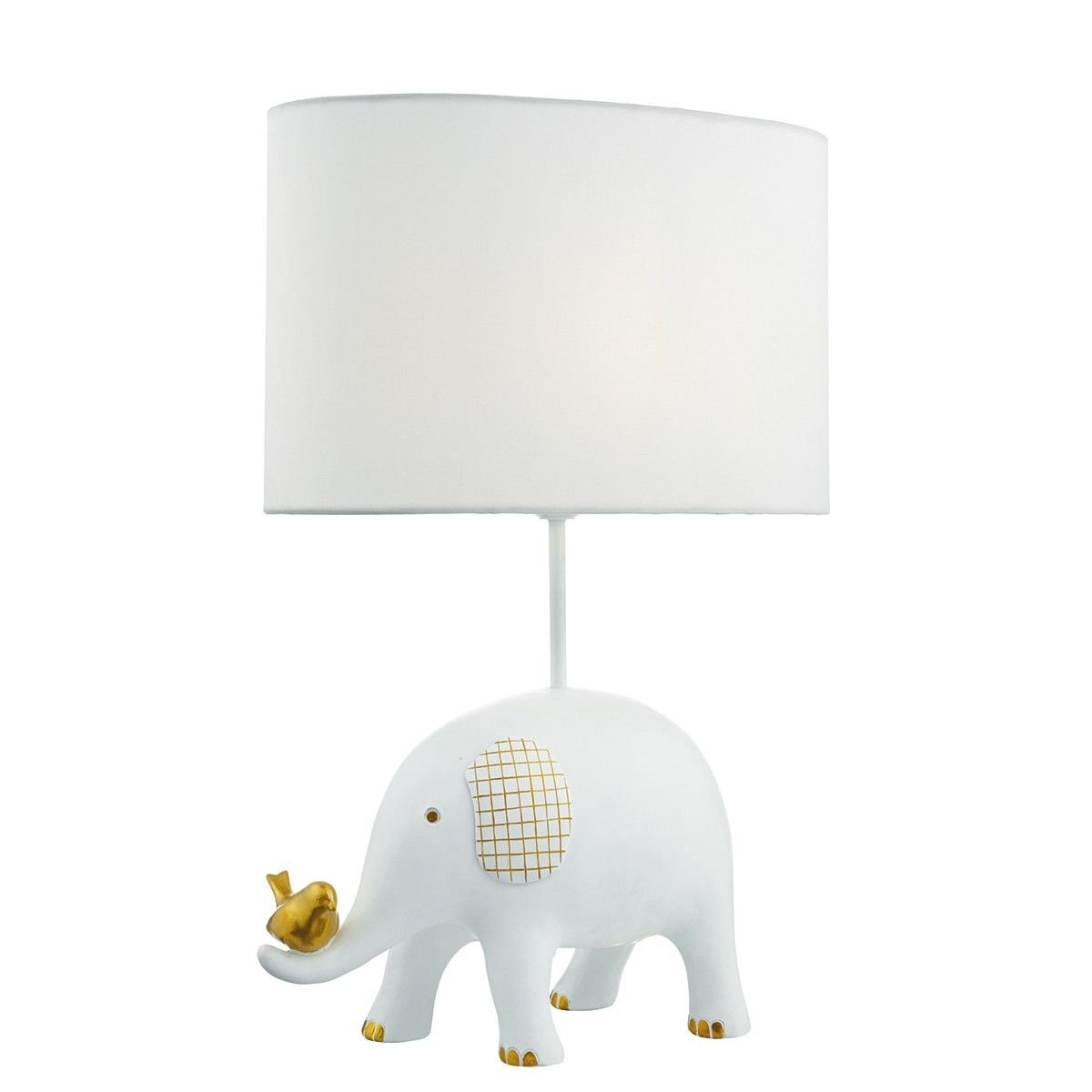 Jerakeen Table Lamp White C W Cotton Shade The Elephant Is An Adorable