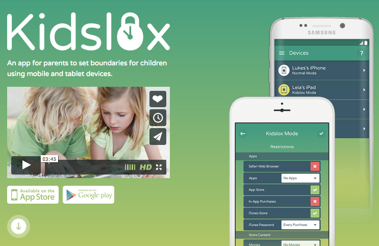Kidslox Parental Controls App for iOS & Android http
