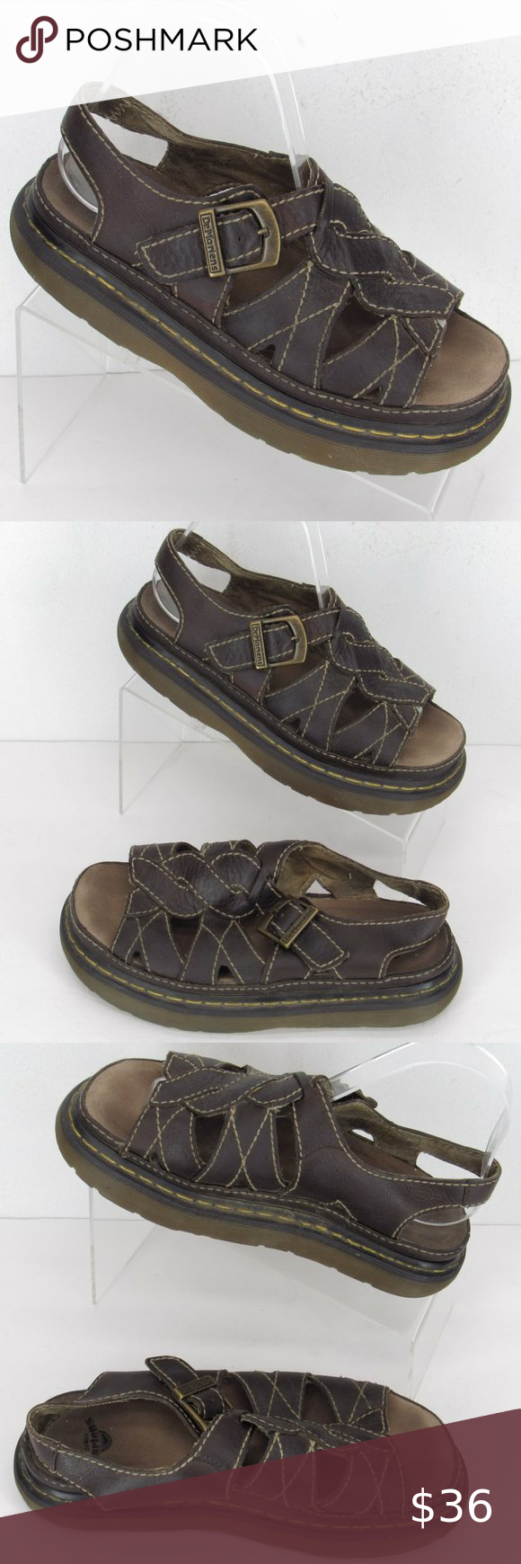 VTG DR. MARTENS Fisherman Sandals 8 Brown #058 Brand: DR. Martens Model: Style: Sandal Color: Brown Size: Women's 8 / Men's 7  Condition: These are pre-owned shoes in Good Condition and show light wear. Please be sure to review all photos prior to purchase.  Material: Leather Upper  All props, including shoe trees, are not included in purchase. Dr. Martens Shoes Sandals