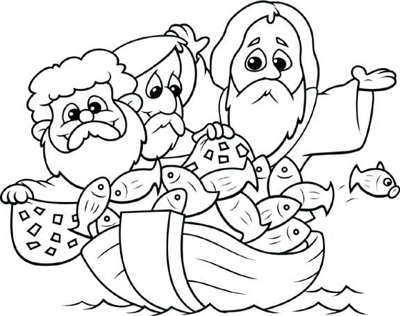 Fishers Of Men Coloring Page Alluring Pages For Kids Printable