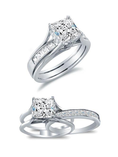 Wedding Ring Inscriptions Engagement Rings White Gold Bridal Set Channel Set Wedding Band
