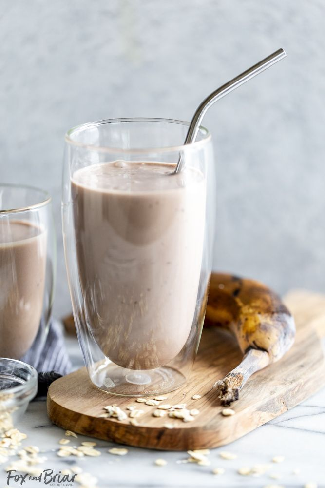 Healthy Chocolate Smoothie #healthychocolateshakes New! Get your chocolate fix with this Healthy Chocolate Shake I made in partnership with @bolthousefarms and @krogerco . This Healthy Chocolate Protein Smoothie has banana, peanut butter, oats, Greek yogurt (or vegan yogurt for a vegan version!)  and plant based protein milk.  This smoothie makes a satisfying snack or meal. @fredmeyerstores #BolthouseFarmsatKroger #Sponsored #healthychocolateshakes Healthy Chocolate Smoothie #healthychocolatesha #healthychocolateshakes