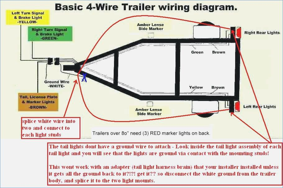 utility trailer wiring diagram harbor freight haul master four way rh pinterest com