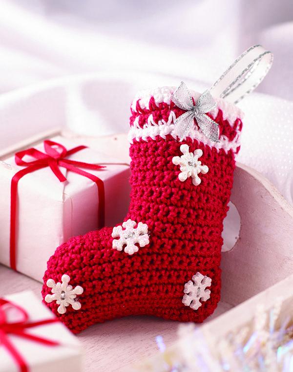 weihnachtsdeko nikolausstiefel anleitung zum artikel im. Black Bedroom Furniture Sets. Home Design Ideas