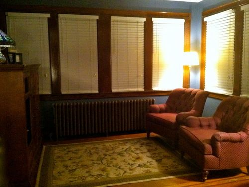 White Blinds With Brown Trim Google Search Stainedtrim