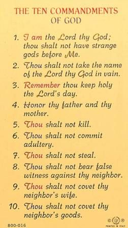 Pin By Tom Wiseman On Bible Verses 10 Commandments