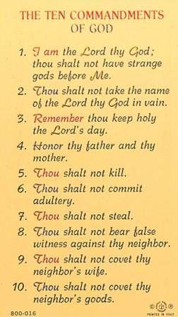 Pin By Tom Wiseman On Bible Verses 10 Commandments