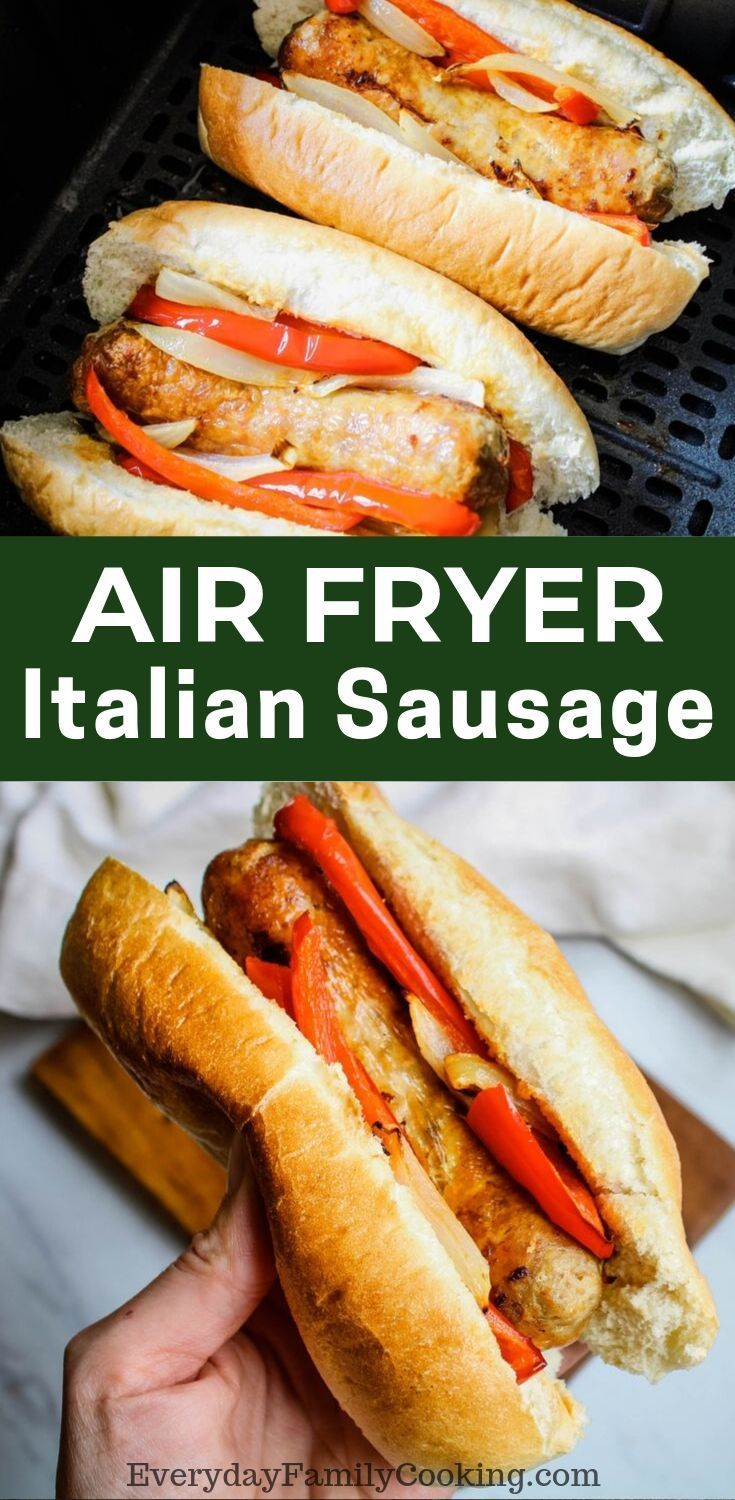 Air Fryer Italian Sausage with Peppers and Onions Recipe