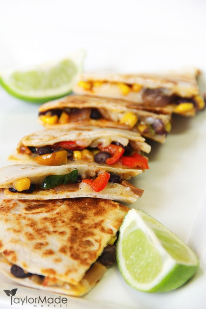 Healthy Veggie Quesadillas Santa Fe Style Recipe Recipes Food Healthy Veggies