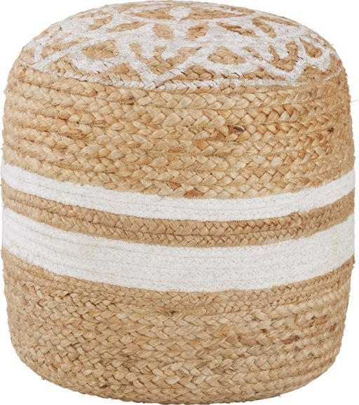 Pouf aus Jute und Baumwolle  - ein Sitzplatz in natürlicher Optik