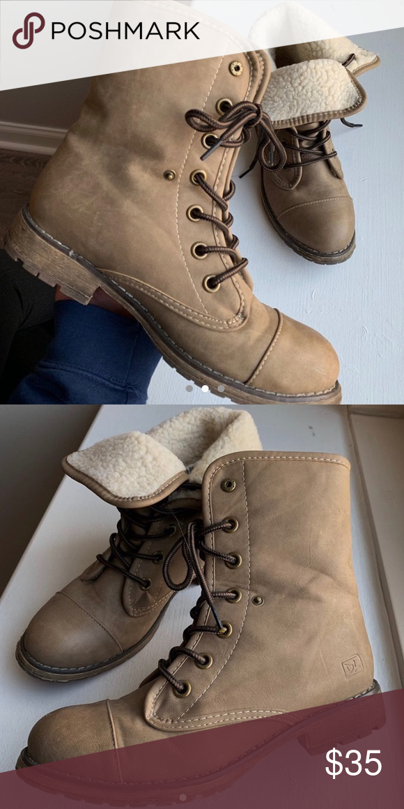 Dirty Laundry Rockwell Combat Boot Tan Colored Combat Boot Only