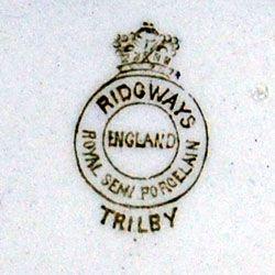 Ridgway Royal Semi Porcelain Trilby pattern china mark