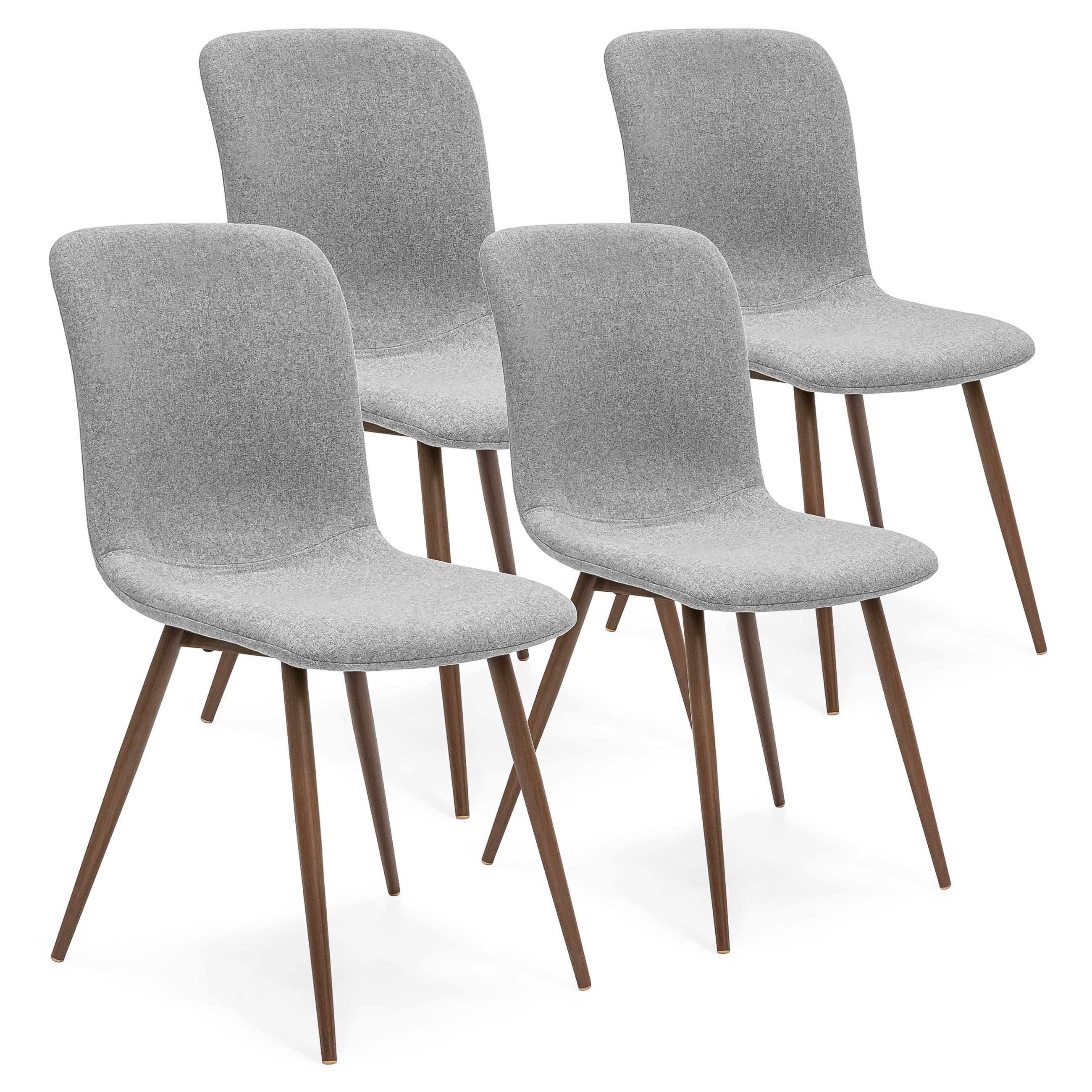 Home Mid Century Modern Dining Room Modern Dining Chairs Gray