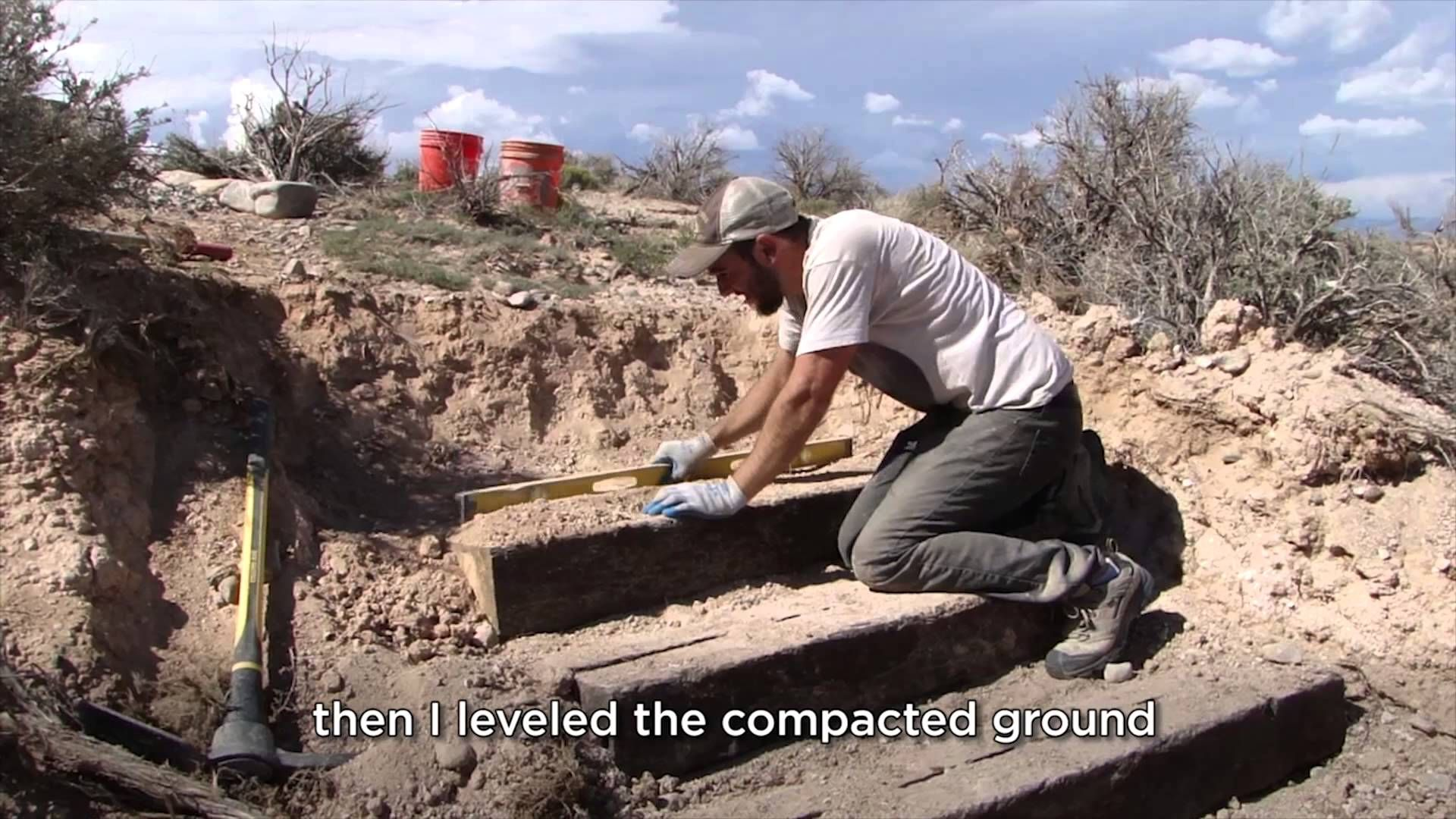 Railroad Tie Outdoor Steps Earthship Build Global