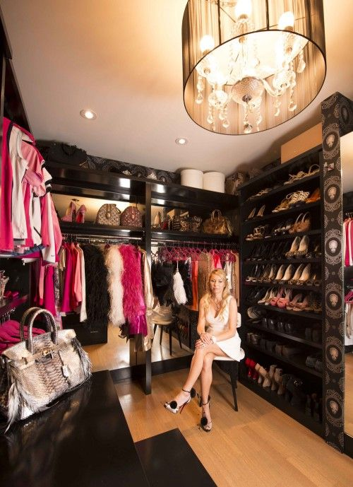 This walk-in closet is probably coveted by women everywhere ...