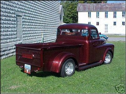 dodge pilothouse era truck club 1950 pickup maroon chopped. Black Bedroom Furniture Sets. Home Design Ideas