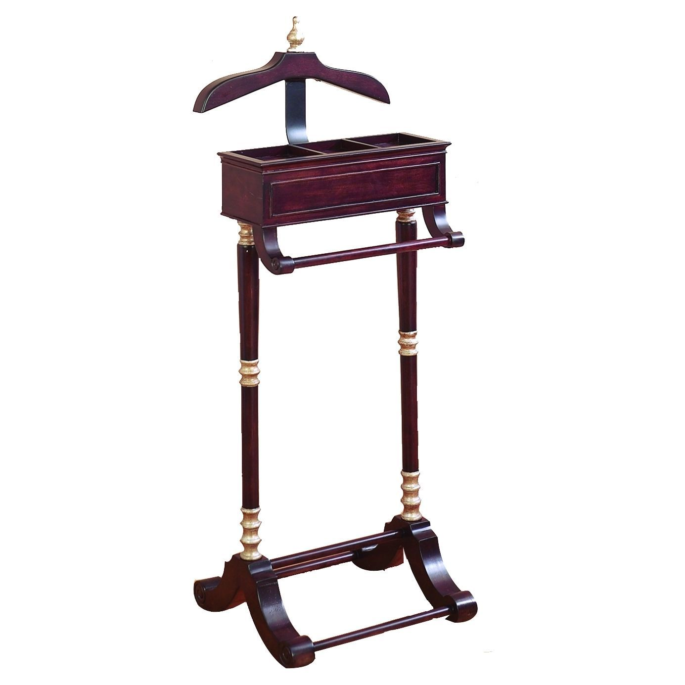 Wood Metal Valet Rack Can Be Placed Anywhere (Rack), Purple