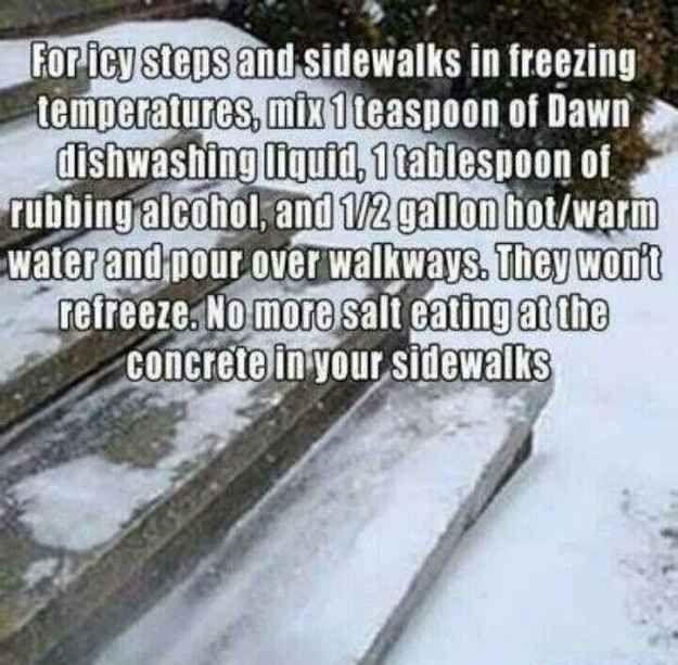Consider this alternative to sidewalk salt. Gotta try this...