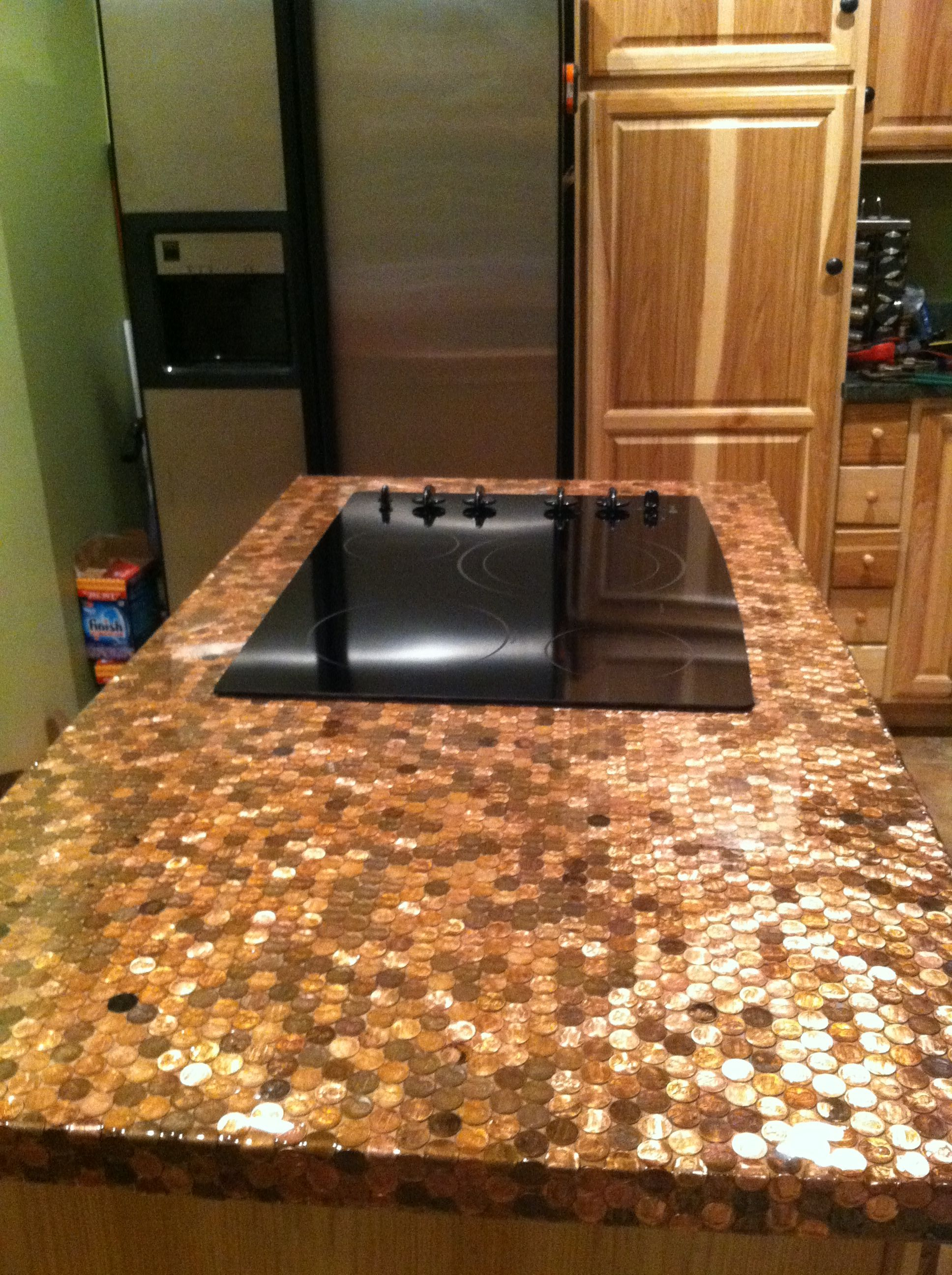 Penny countertop-- OMG I need a house to do this in ...