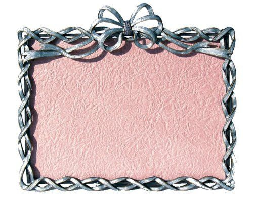 Baby Blue Lattice Ribbons Bows Swarovski Crystals Photo Frame For