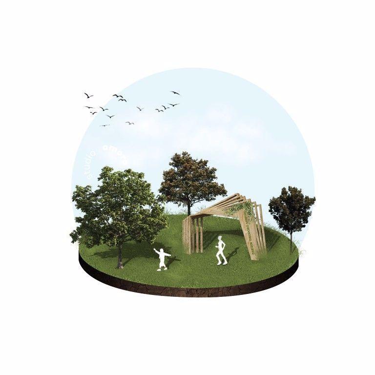 Ilustração de estudo conceitual para um pórtico. Modelagem 3D com edição para criar uma ilustração realista.   #arquitetura #urbanismo #design #decoração #interiores #studioamora #salvador #arquiteturasalvador #architecture #architect #photoshop #archilovers #ilustração #illustration #instaarch #illustrarch #3D #modelling #interiordesign