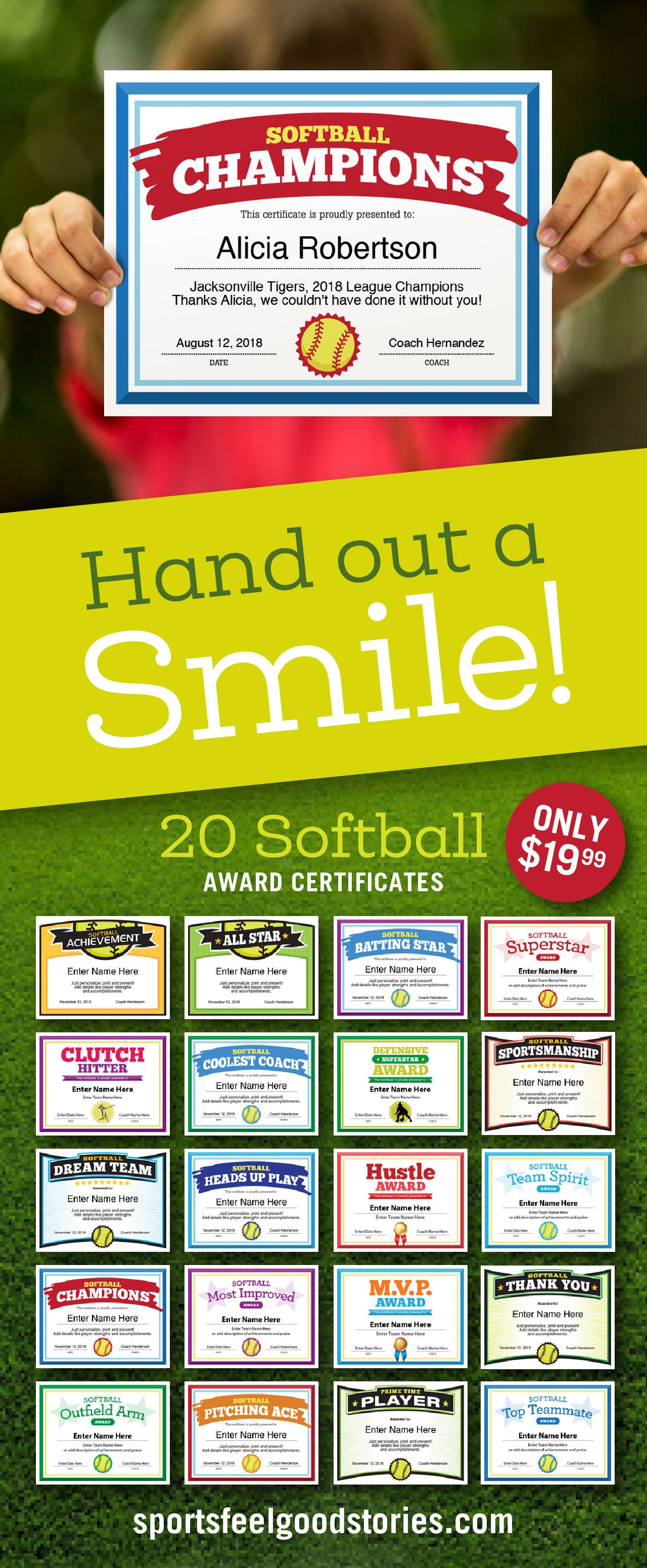 Softball Certificates And Coaching Forms Softball Coach And