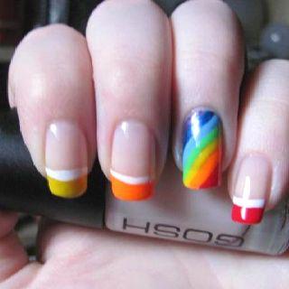 Rainbow nails design pinterest rainbow nails cute ideasstyle solutioingenieria Choice Image