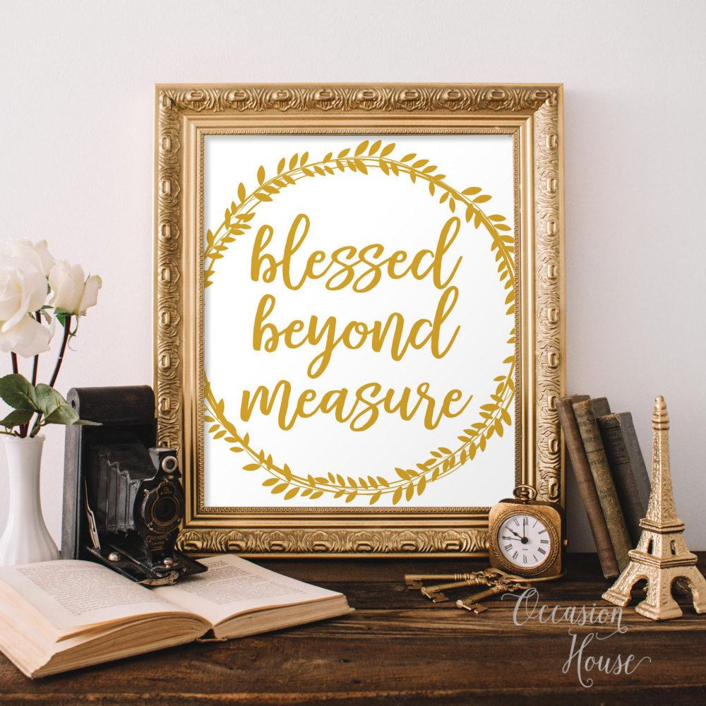 Printable Thanksgiving sign, Blessed beyond Measure, thanksgiving ...