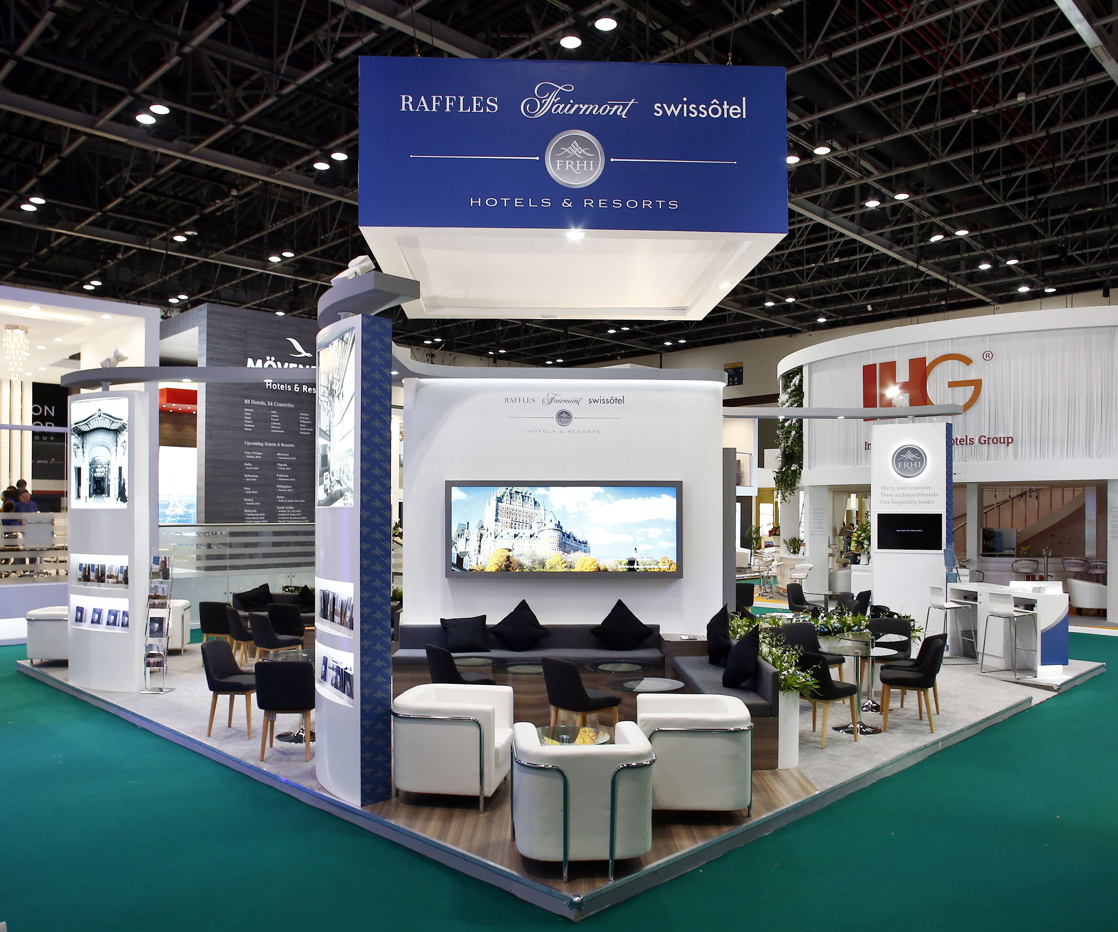 Exhibition Stand Design Kenya : Raffles fairmont & swissôtel exhibition stand design by elevations