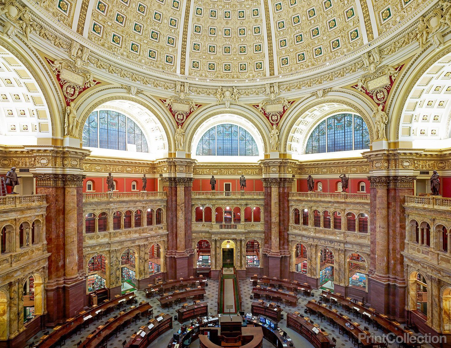 Main Reading Room Library Of Congress Washington Dc Library Of Congress Reading Room Washington Dc