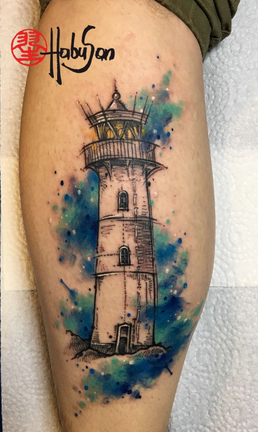Photo of Lighthouse tattoo