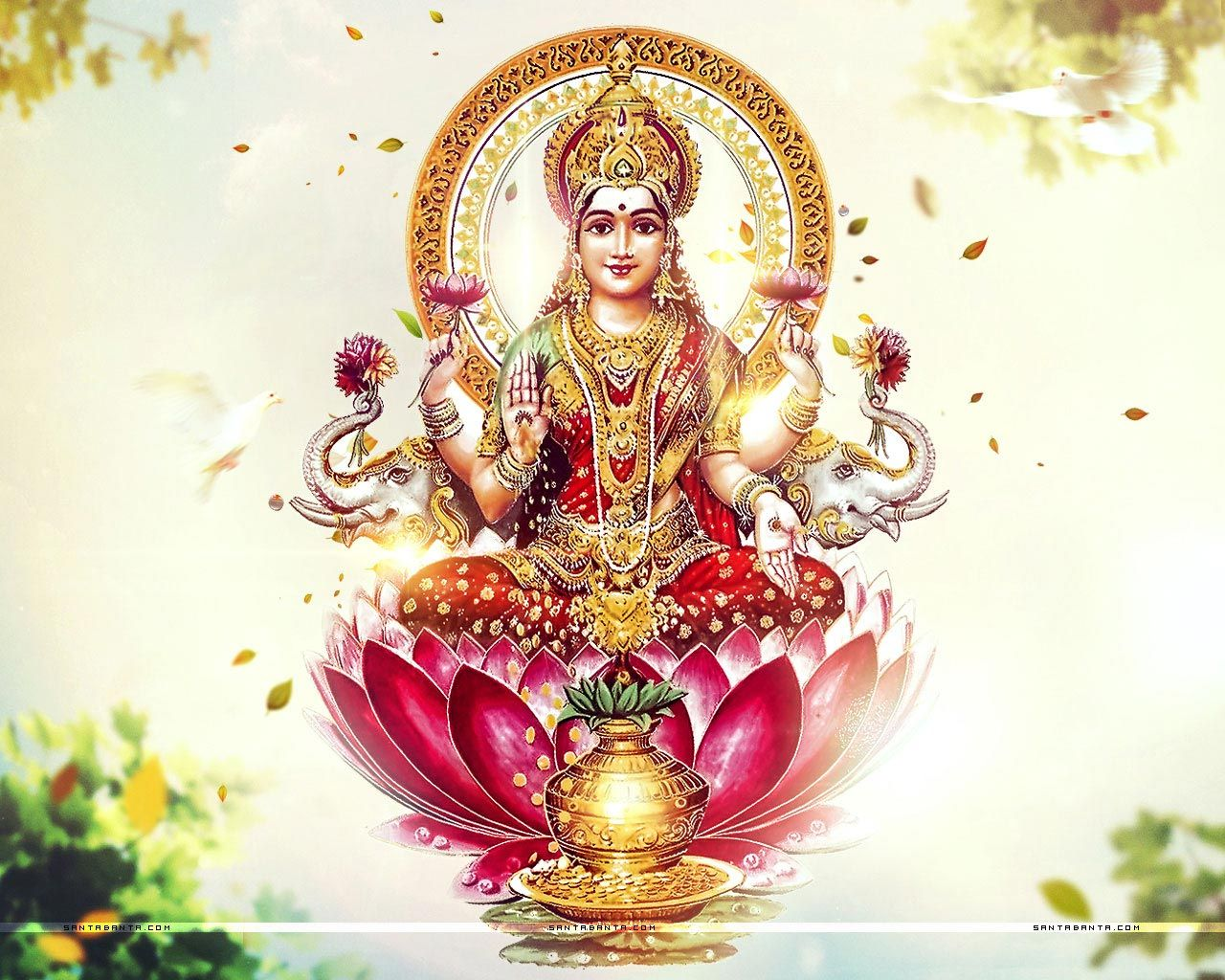 Goddess Laxmi HD Wallpaper Download Lakshmi images