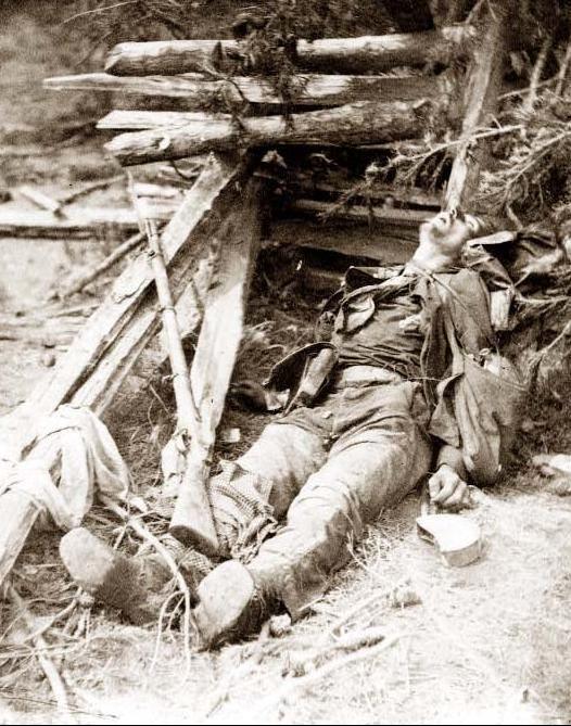 Cena do ataque de Ewell, 19 de maio de 1864, perto de Spottsylvania [ie Spotsylvania] Court House.