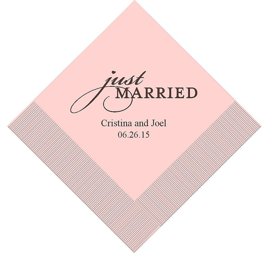 Personalized Wedding Napkins Wedding Photography