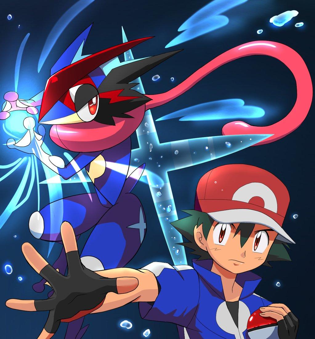Ash Greninja Pokemon Firered Pokemon Anime