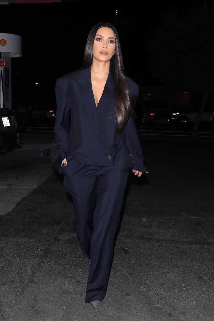 Of All Kim Kardashian's Recent Suit Looks, This One's Her Chicest Yet