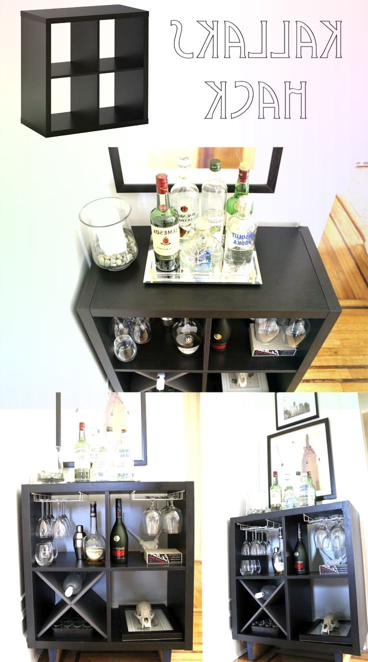 Hottest Screen Ikea Kallax Hack to a Bar Made by # ...