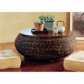 round rattan coffee table. Round Wicker Coffee Table   Living Room Pinterest Ottomans, And Rattan T